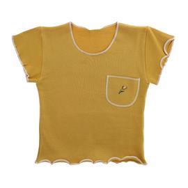 Camiseta Infantil Menina com Bolso Bordado - 9074