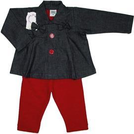 Casaquinho Jeans com Legging - Cód. 5312