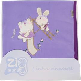 Cobertor para Bebê Microsoft Forrado Zig Mundi 6855