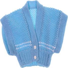 Colete de lã para bebê Artesanal