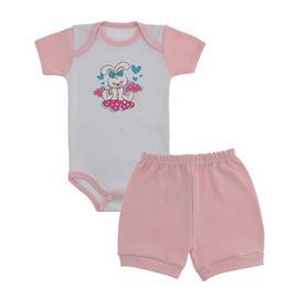 Conjunto Body e Short Bebê Menina Lapuko