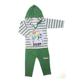 Conjunto Camiseta e Calça Verde Escuro Star Rock 7211
