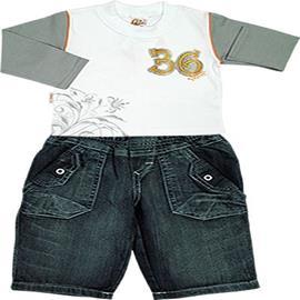 Conjunto de Beb� Camiseta e Cal�a Jeans 4407