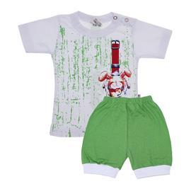 Conjunto de Bebê Coelho Verde 7603
