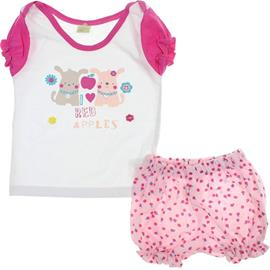 Conjunto de Bebe - Shorts e Camiseta - Smoby Baby - cod.6158