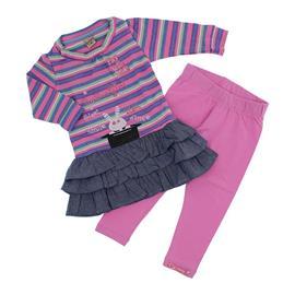 Conjunto de Bebê Menina Vestido e Legging Coelhinha - 9759