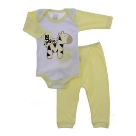 Conjunto de Body e Cal�a Beb� Zebra Unissex 6282