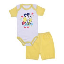 Conjunto de Body e Shorts para Beb� Menino