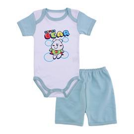 Conjunto de Body e Shorts para Bebê Menino
