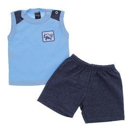 Conjunto de Camiseta Regata e Shorts para Beb� Menino 9906
