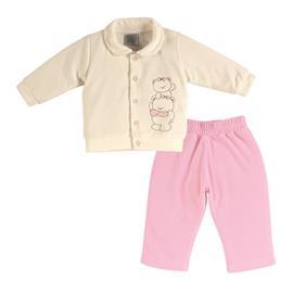 Conjunto Infantil Feminino em Plush Ursinhas - Cod. 7269