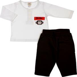 Conjunto de Bebê Calça e Camiseta Macaco Prego 5924