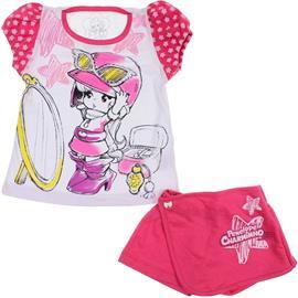 Conjunto Infantil Shorts Saia e Camiseta Penélope Charmosa 5867