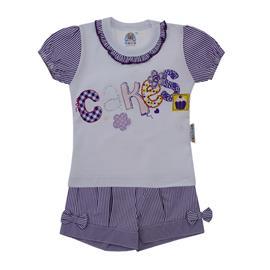 Conjunto Infantil Menina Cakes 8555
