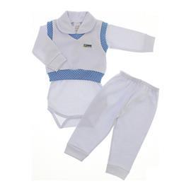 Conjunto Pag�o Azul com Branco Beb� Menino 9921