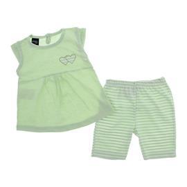 Conjunto para Beb� Menina Bata e Shorts Cora��es 9907