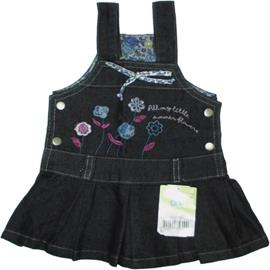 Salopete Jeans para Bebê Menina 5587