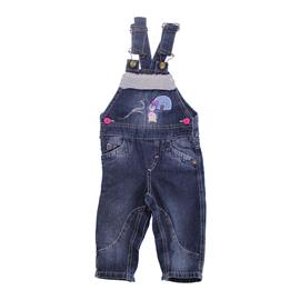 Jardineira de Bebê em Jeans Pinguim - 7724