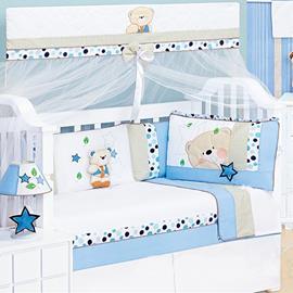 Kit Berço Padrão Americano Urso Estrela 9 peças - Cod.7971