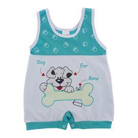Macac�o curto Bebe Menino Dog - 9814
