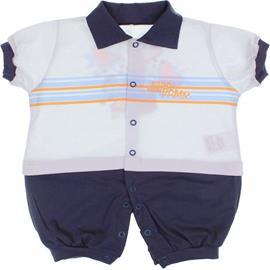Macacão Curto para Bebê Dino e Bam Bam 6490