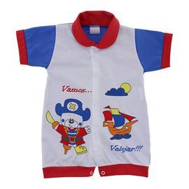 Macac�o Curto para Beb� Vamos Velejar 9830