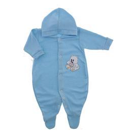 Macac�o de Beb� Atoalhado com Capuz Azul 9064