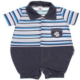 Macacão de Bebê Curto Listrado 6224