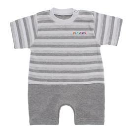 Macacão de Bebê Curto Listrado Lapuko