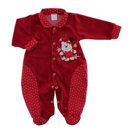 Macac�o de Beb� em Plush Vermelho 9058