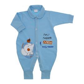 Macac�o de Beb� Longo Azul Melhor Amigo 9828