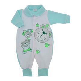 Macac�o Longo Beb� Atoalhado Pequenos Ursos - 9826