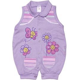 Macacão Regata para Bebê Flores 4852