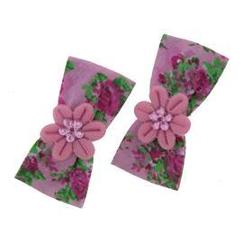 Presilhas Bico de Pato Floral 8879