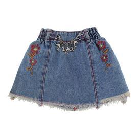 Saia Jeans Infantil Desfiada - 9721