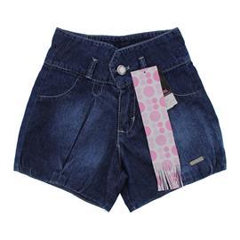 Shorts Jeans Infantil Balonê Feminino - 9763