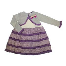 Vestido infantil com Bolero Bonnemini 7769
