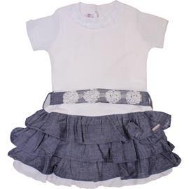 Vestido Infantil com Babadinhos - cod. 7087