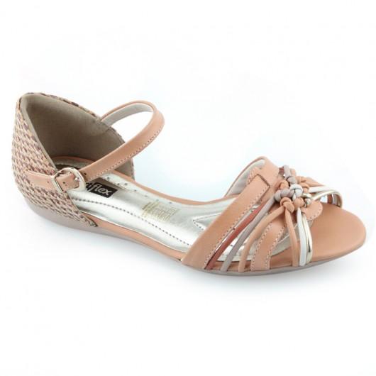Sandália Salto Baixo ComfortFlex - 1668401 -