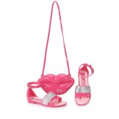 Sandália Rasteira Barbie Pop Glam 21365