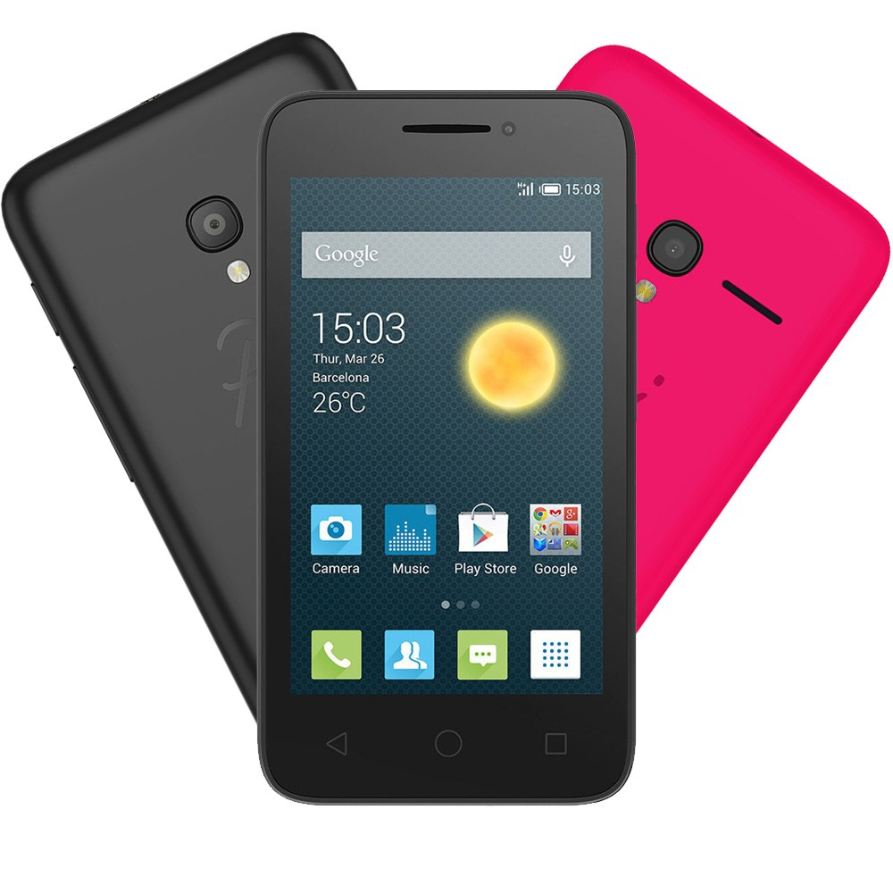 Smartphone Alcatel PIXI3 3.5 OT4009 Preto/Rosa