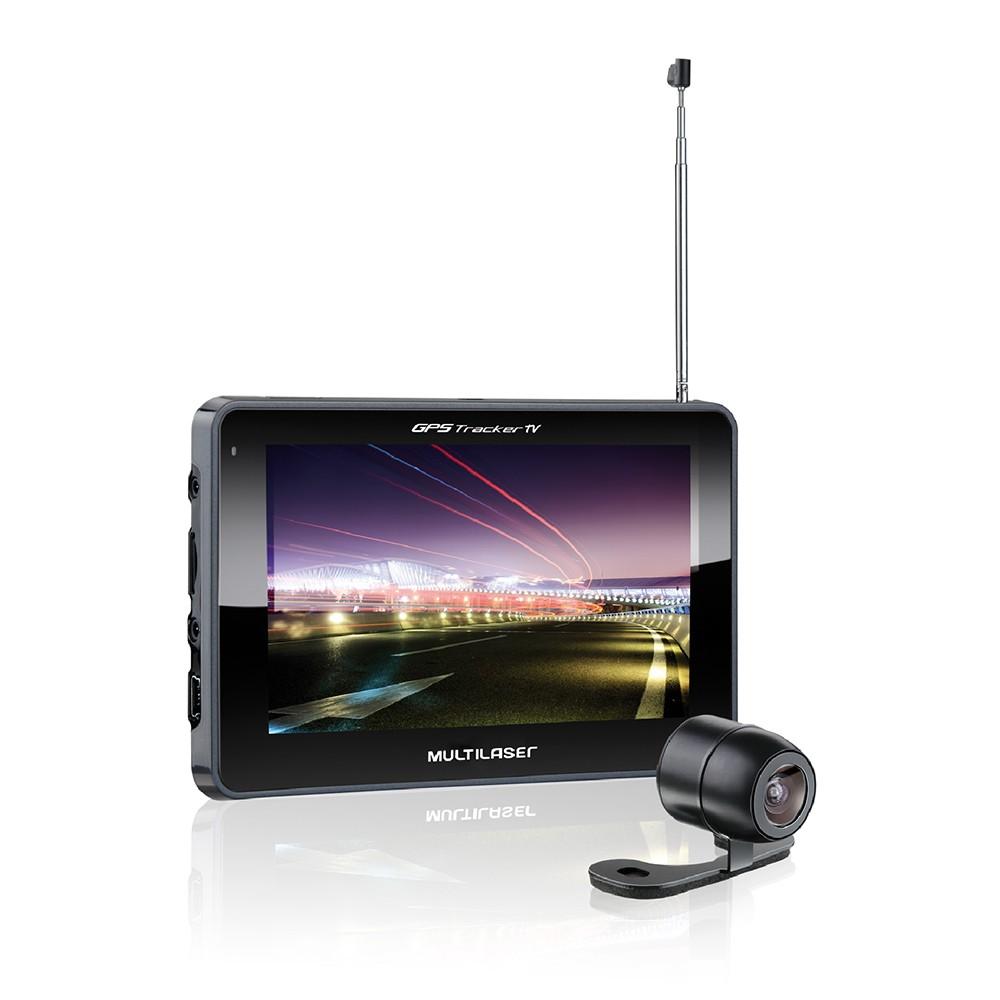 Navegador GPS Tracker III Tela 5.0 Com Câmera De Ré E Tv Digital + Radio FM GP037 Multilaser
