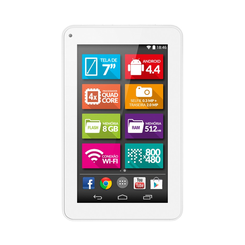 Tablet Multilaser Ml Supra NB200 Branco