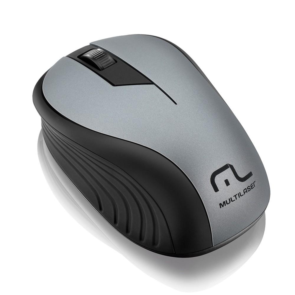 Mouse Sem Fio 2.4ghz USB Preto Grafite MO213 Multilaser