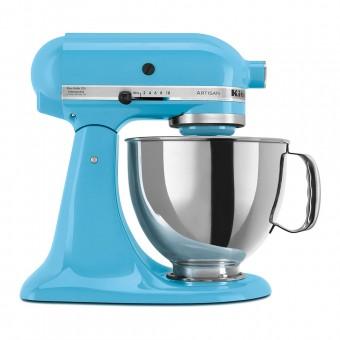 Batedeira Planetária Stand Mixer Artisan Crystal Blue KEA33CW Inox 127V KitchenAid