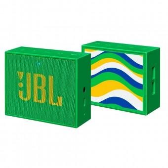 Caixa de Som Bluetooth JBL GO Edição Especial Verde/Amarelo