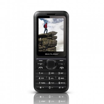 Celular Multilaser View Dual TV P3266 Preto