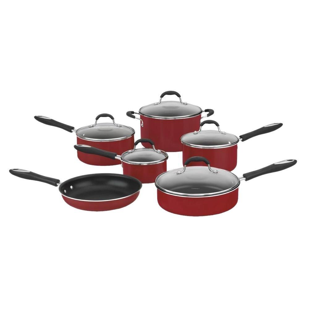 Conjunto de Panelas em Alumínio Vermelho Antiaderente 6 Peças advantage Cuisinart