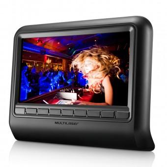 DVD Player Automotivo Multilaser 9 para Encosto de Cabeça AU705 Preto