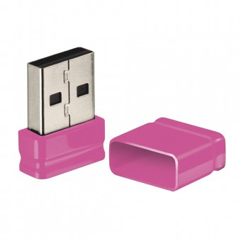 Pen Drive Nano Multilaser Rosa 8GB PD063
